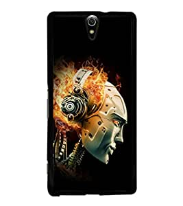 printtech Robot Flaming Music Back Case Cover for Sony Xperia C5 Ultra Dual , Sony Xperia C5 E5553 E5506::Sony Xperia C5 Ultra