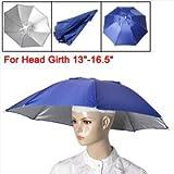 Outdoor Fishing Camping Royal Blue Umbrella Hat Headwear Cap