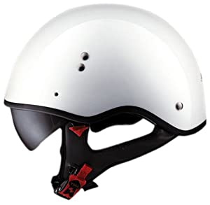 """LS2 Helmets HH566 """"A"""" Half Helmet with Sun Visor (Solid Pearl White, XX-Large)"""