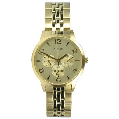 Guess W11161L1 Ladies THIN MINT Gold Tone Watch