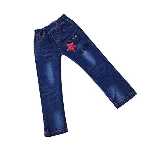 Zier Bambini Lungo Del Denim Dei Jeans Mutanda Casuale Pull Up Elastico Regolabile 33867