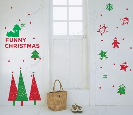 Christmas Decals- Funny Christmas -Removable