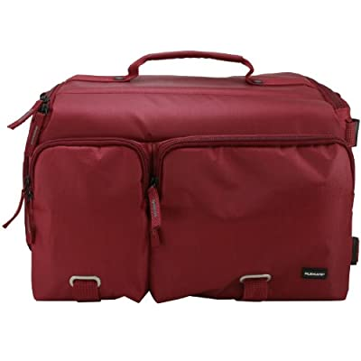 Filemate 3FMCG230RD3-R ECO Professional SLR Camera Bag with Two Front Pockets (Dark Red)