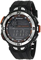 Armitron Men's 408233ORG Chronograph Multi-Function Orange Accented Black Resin Sport Watch from Armitron