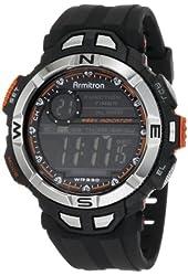 Armitron Sport Men's 408233ORG Chronograph Multi-Function Orange Accented Black Resin Watch