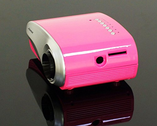 Aketek newest lcd home theater cinema projector led for Smallest micro projector