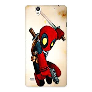 AJAYENTERPRISES Red Bachha Animated Hero Back Case Cover for Sony Xperia C4