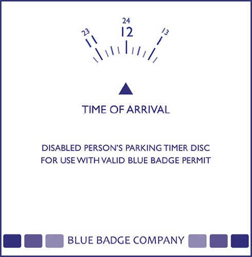 Blue Badge Cpmpany Parking Clock Timer Disc for Parking Permit