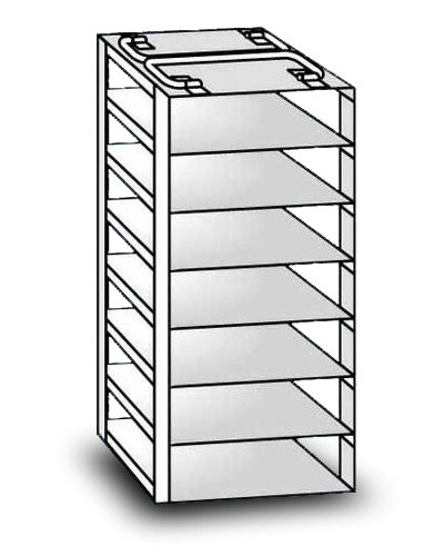 """So-Low 16-7-2 Rack For Chest Style Ultra-Low Freezers. 7 Shelves For 2"""" Boxes. front-456700"""