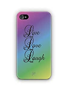 YuBingo Live. Love. Laugh. Mobile Case Back Cover for Apple iPhone 4