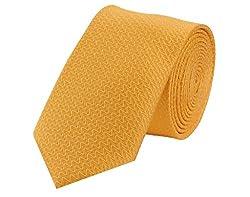 Tiekart Printed Men'S Tie (Skm104_Yellow)