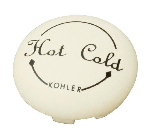 Kohler K-12001-96 Fairfax Single Control Plug Button, Biscuit front-628783