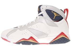 Mens Nike Air Jordan 7 Retro Olympic Edition Basketball Shoes White / Midnight Navy / Varsity Red 304775-135 Size 7.5