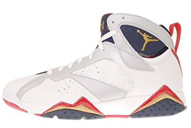 Nike Mens Air Jordan 7 Retro White Basketball Shoes US 9.5
