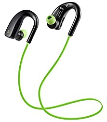 buy Noise Cancelling Earbuds Bluetooth Headphones Wireless Stereo Sports Headphones With Mic For Iphone / Samsung / Android / Smartphones(Green)