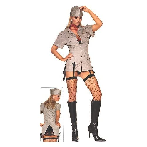 Adult Halloween Costumes: Hot Women in Sexy Military - Women's Sexy Military Costume Lingerie Outfit
