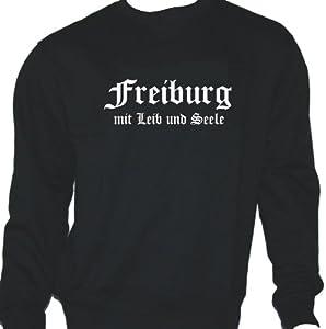 Freiburg mit Leib und Seele; Städte Sweatshirt schwarz