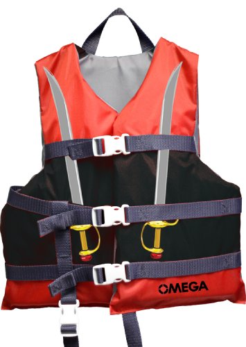 Flowt 40222-CLD Infant Type II or Child Type III Character Life Vest (Pirate, Child 30-50-Pounds.) (Type Ii Infant Life Jacket compare prices)