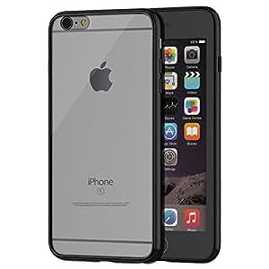 iPhone 6s Plus Case, JETech® Apple iPhone 6/6s Plus Case 5.5 Bumper Cover Shock-Absorption Bumper w/Anti-Scratch Clear Back for iPhone 6/6s Plus 5.5 Inch (Fits both iPhone 6 Plus and iPhone 6s Plus Models) (Black)