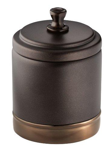 InterDesign York Metal Bathroom Vanity Canister Jar for