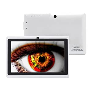 JYJ 7 Inch Android Google Tablet PC 4.2.2 8GB 512MB DDR3 A23 Dual Core Camera Capacitive Screen 1.5GHz WIFI WhiteCustomer reviews