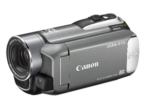 Canon LEGRIA HF R16 High Definition Digital Camcorder - Silver (20 X Optical Zoom, 2.7 Inch Widescreen Colour LCD)