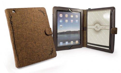 Tuff-Luv Scribe folio Stasis: Natural Hemp case cover for Apple iPad 2 / new ipad (Retina) 3 (Retina) - brown