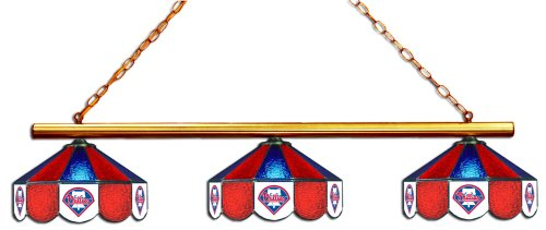 MLB Philadelphia Phillies Three Shade Stained Glass Billiard Table Lamp at Amazon.com