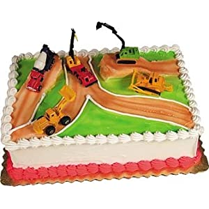 Decorating Construction Cake