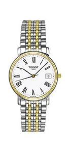Tissot Men's T52248113 T-Classic Desire Two-Tone White Dial Watch