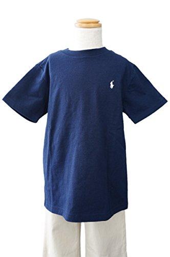 (ポロ ラルフローレン)POLO Ralph Lauren キッズ Tシャツ 半袖 子供服 刺繍 ポニー PONY [並行輸入品] ネイビー×ホワイト 6