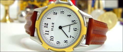 The Time Machine – Wrist Watch with Brown Leather Band – Astonishing Magic Trick
