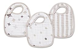 aden + anais Classic Snap Bib, Shine On, 3 Pack