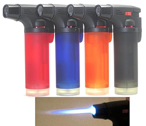4 Pack Eagle Jet Torch Gun Lighter Adjustable Flame Windproof Butane Refillable (Blade For Bake compare prices)