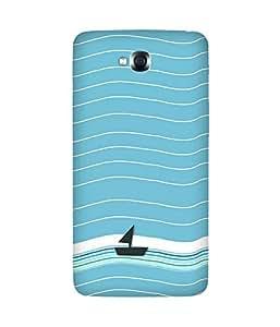 Waves Boat Back Cover Case for LG G Pro Lite