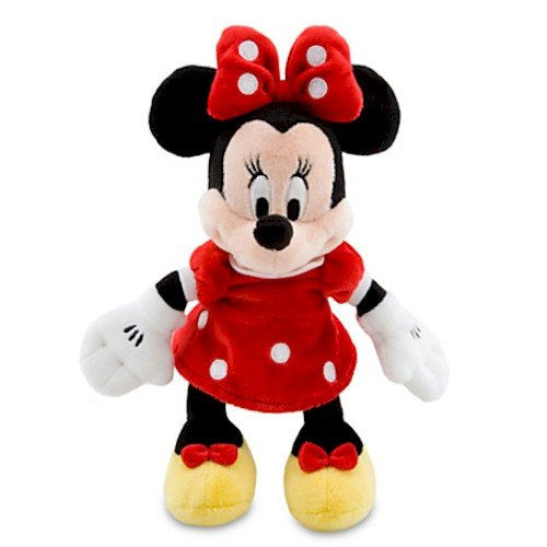 Disney Minnie Mouse Plush - Red Mini Bean Bag - 9 1/4''