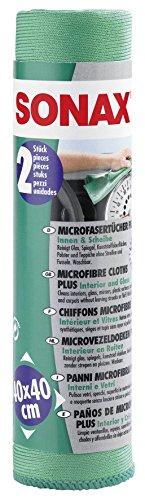 sonax-04165410-microfasertucher-plus-innen-scheibe-40x40-cm-2-st