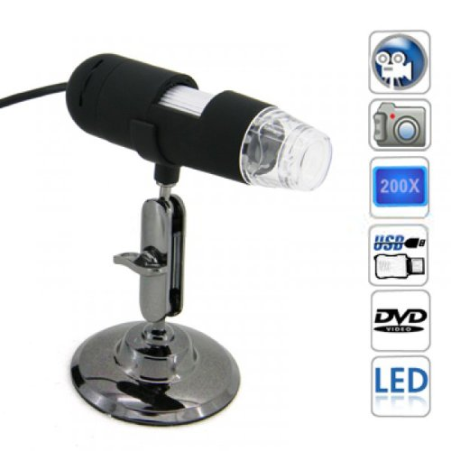 Usb Digital Microscope With 1.3 Mp Camera(20X-600X)-U613Hd