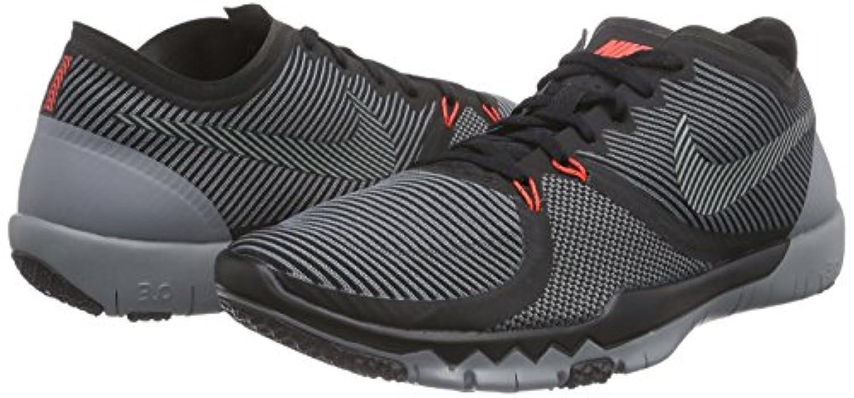 26e899bc150fe ... Nike Mens Free Trainer 3.0 V4 Training Shoes Black Cool Grey 749361-001  Size ...