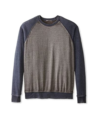Threads 4 Thought Men's Long Sleeve Raglan Crew Neck Sweatshirt