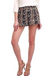 Navy Ditsy Floral Shorts
