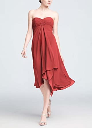 Strapless Chiffon Short Dress Guava, 2