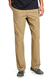 Pleat Front Water Resistant Pure Cotton Chinos with Adjustable Waist [T17-6333B-S]
