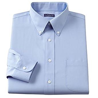 Croft barrow mens classic fit 100 cotton button down for Mens 100 cotton button down shirts
