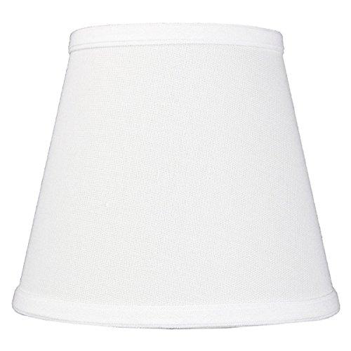 5x8x7 Empire Hardback White Linen Edison Clip-On Lampshade (Lamp Shades Clip On compare prices)