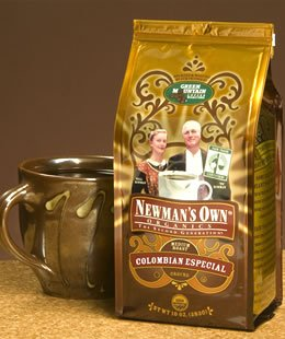 Newman's Own Organic Columbian Especial Ground Coffee, 10-Ounce Bags (Pack of 3)