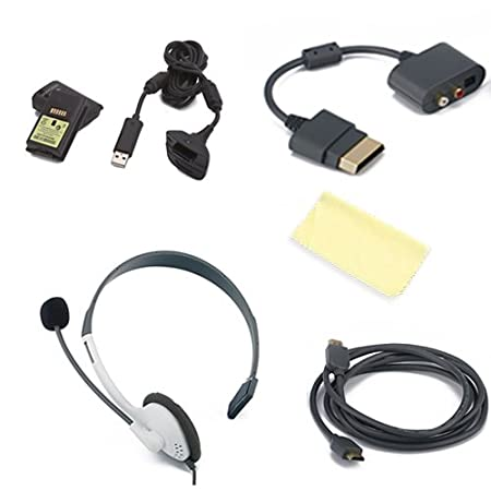HDE (TM) Gaming Starter Bundle compatible w/ Microsoft® Xbox 360 System + Micro-fiber Cloth