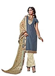 Limemode Women's Cotton Unstitched Dress Material (WASS000161_Grey_Free Size)