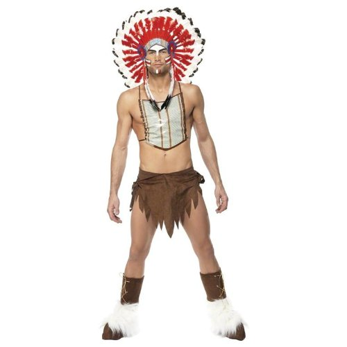 Smiffys Village People Indian Costume Adult