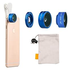Evershop®Universal 2 in 1 Professional HD Camera Lens Kit 0.36x Super Wide Angle Lens + 15x Super Macro Lens for Iphone 6 /6S/ 6 Plus / 5s / 5, Samsung Galaxy S6 / S5, Smart Phone (Blue)